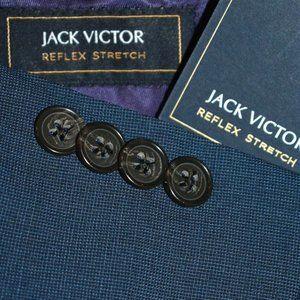 NWT 54R Jack Victor Blue Sport Coat Blazer Jacket